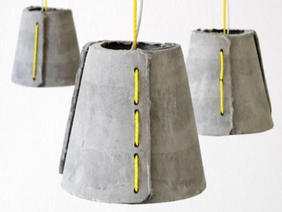 lampade in cemento