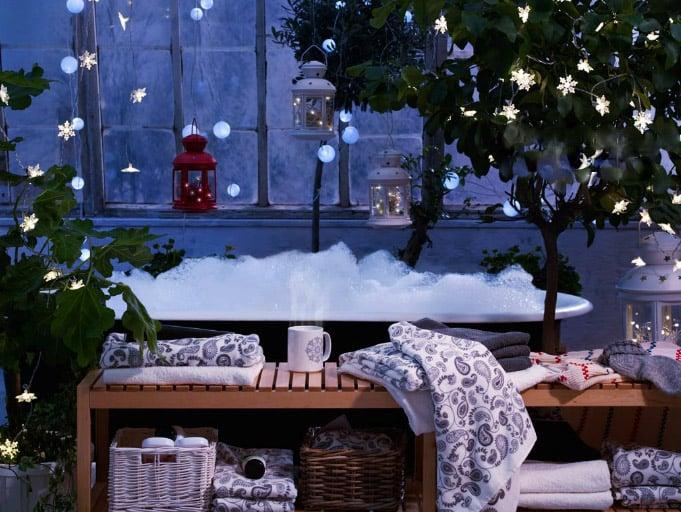 Luci natalizie per giardino