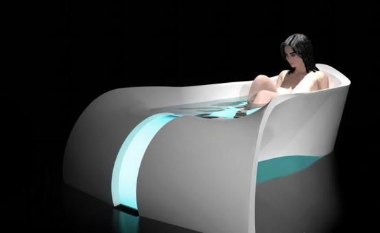 Vasca da bagno lussuosa e rilassante