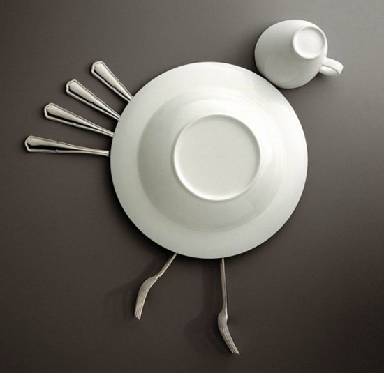 Galleria foto - Creatività in cucina con piatti e posate Foto 2