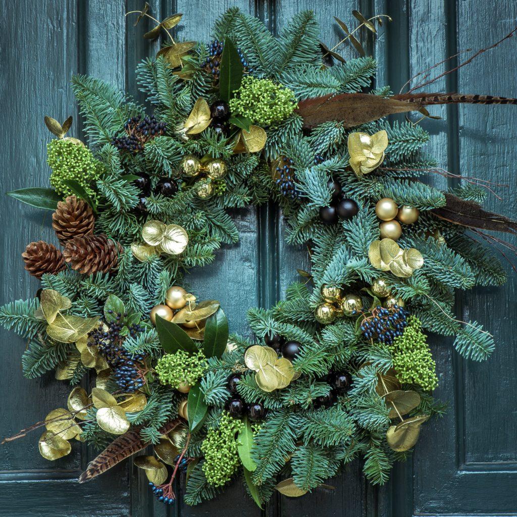 decorazioni-natalizie-verde-ghirlanda-porta