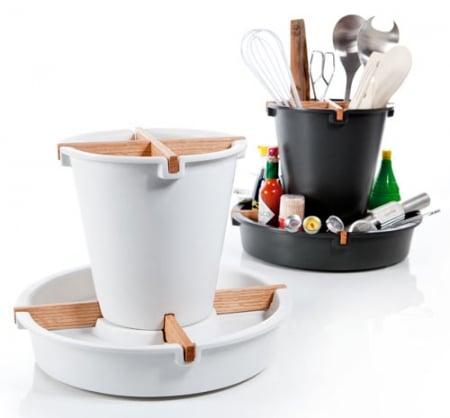 Lazy linda organizzatore da cucina rotante for Utensili da cucina design