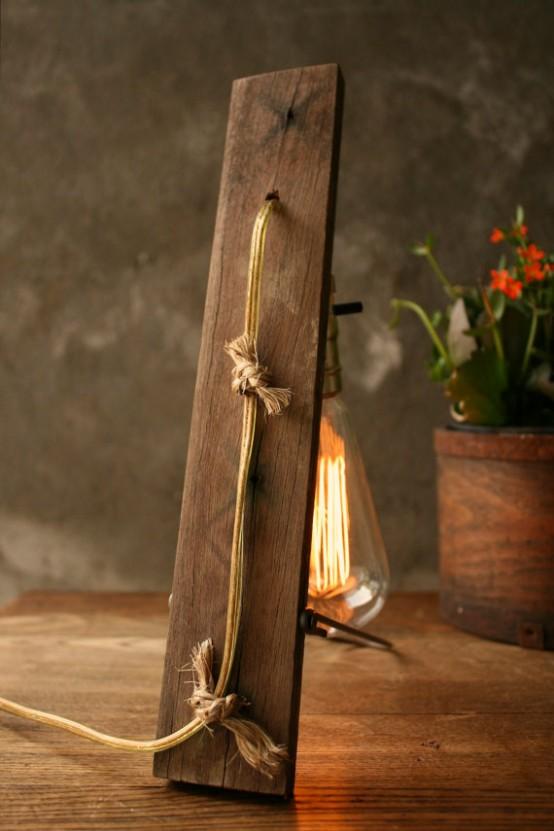 Lampada Da Tavolo In Legno Fai Da Te Powrgard