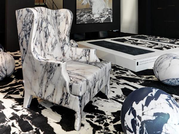 poltrona in marmo luigi XV