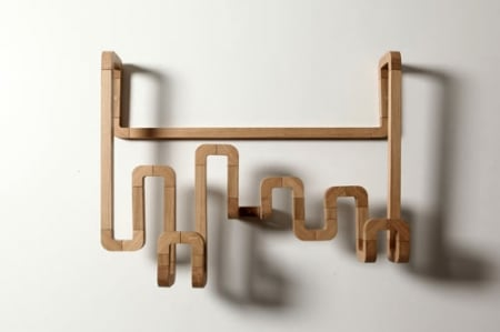 mensole mobili curvi
