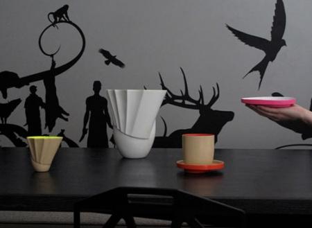 Ceramiche fluo dallo stile contemporaneo