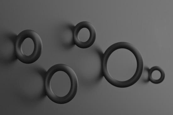 Appendiabiti a forma di cerchio