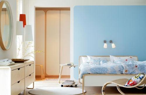 camera da letto celeste