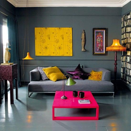soggiorno pareti grigio