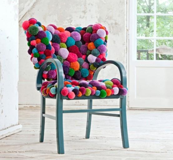 Ponpon di lana per arredare casa