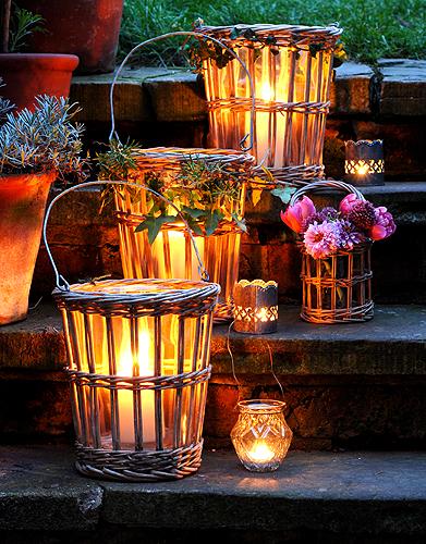 Lampade in vimini originali