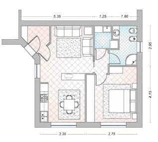 progetto casa 50/60 mq