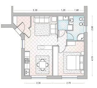 Casa 40 50 60 mq idee arredo for Arredare 40 mq ikea