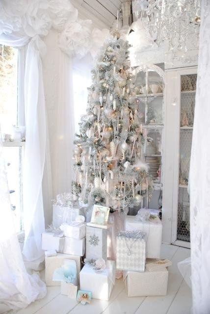 Galleria foto - Come addobbare l'albero di Natale bianco? Foto 6