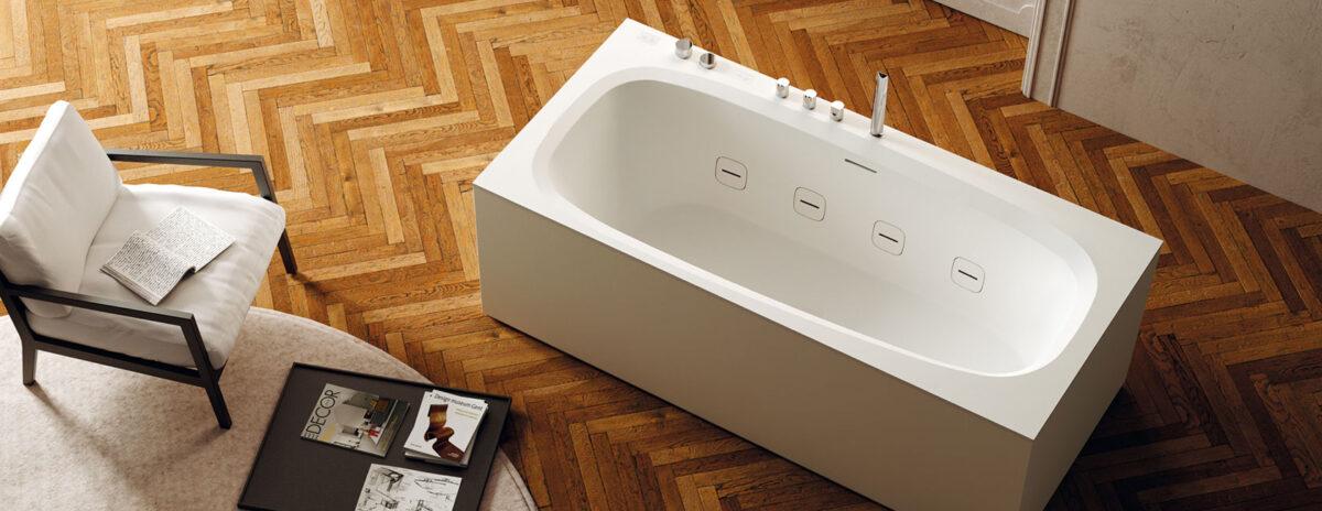 outline di teuco la vasca da bagno con idromassaggio