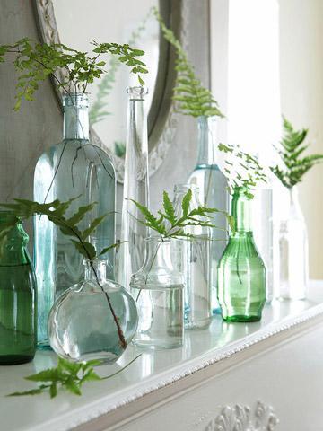 bottigliette come vasi
