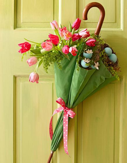 vaso ombrello porta fiori