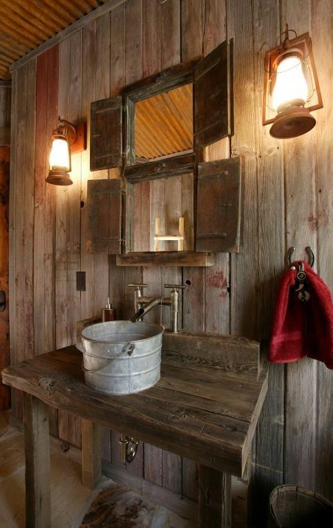 bagno rustico moderno 26