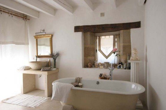 bagno rustico moderno 5