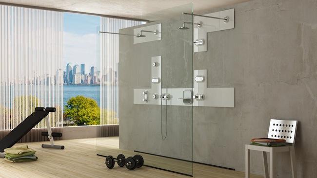 Rivestimenti di design per il bagno modula di glass for Idee rivestimento bagno