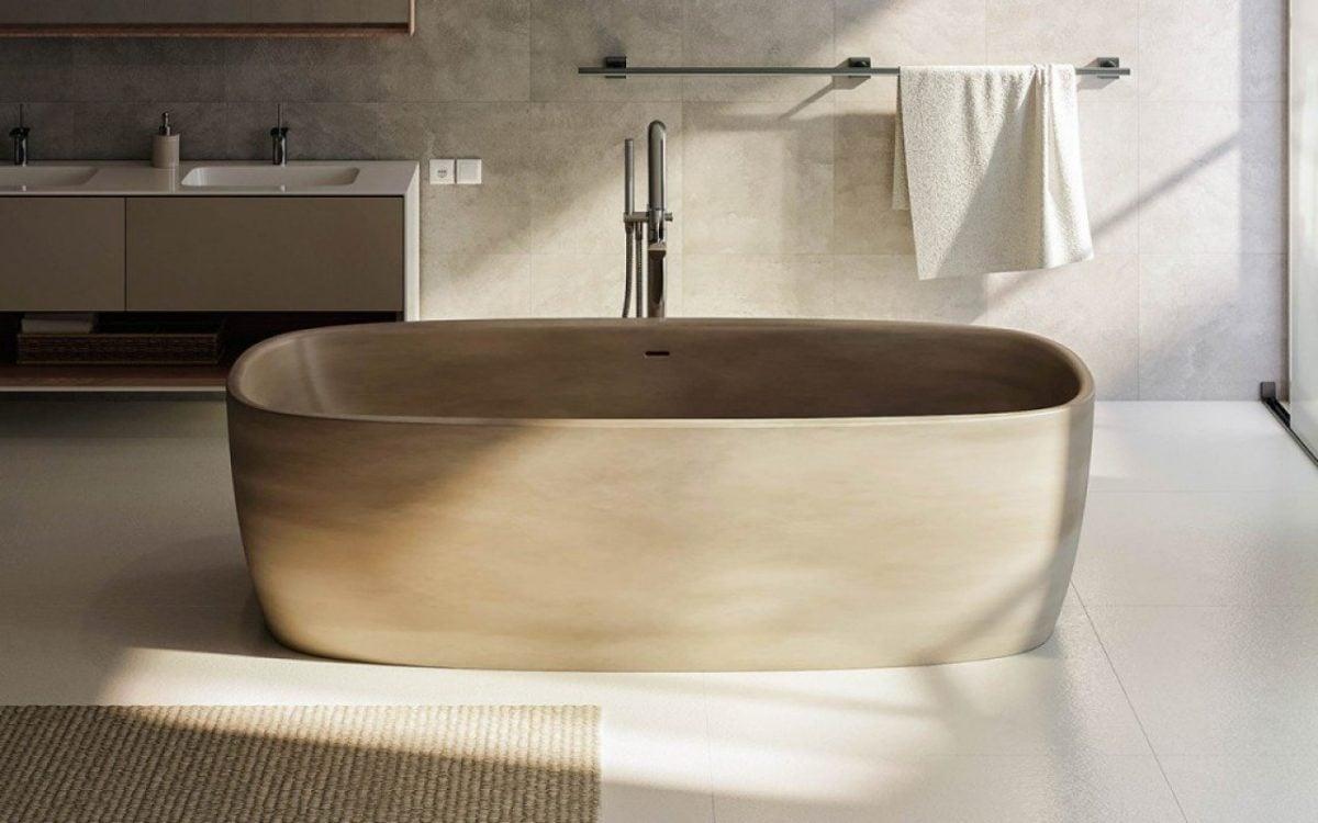 Vasca Da Bagno Filo Pavimento : Vasche da bagno in pietra