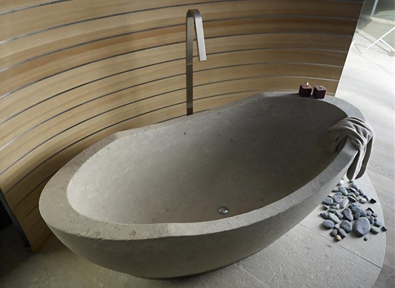 Bagno Design Ecologico In Pietra : Vasca da bagno in pietra