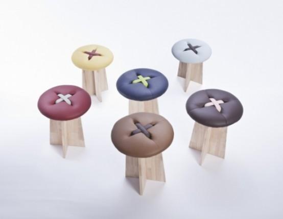 Sgabelli originali: a forma di bottoni