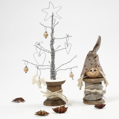 Albero di natale con filo di ferro - Decorazioni natalizie legno fai da te ...
