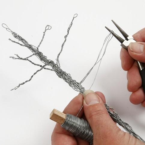 albero di natale con filo di ferro 3