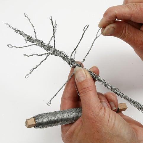 albero di natale con filo di ferro 4