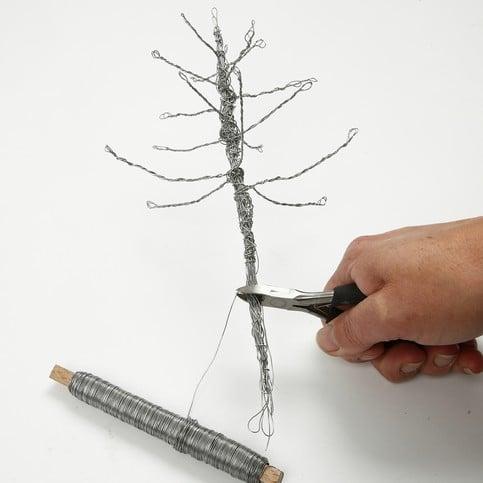 albero di natale con filo di ferro 5