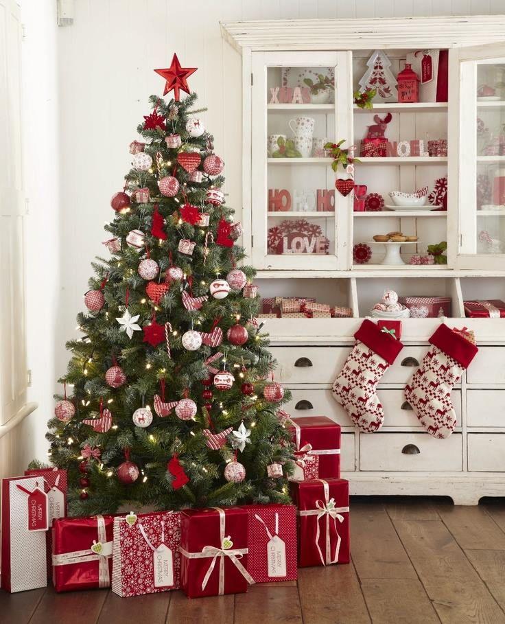 Albero Di Natale Rosso.Arredare Casa Per Natale