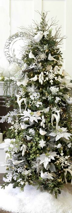 Albero Di Natale Bianco E Rosso.Albero Di Natale Bianco