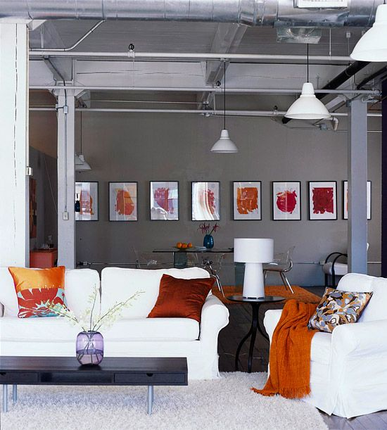 Idee di soggiorno con pareti grigie