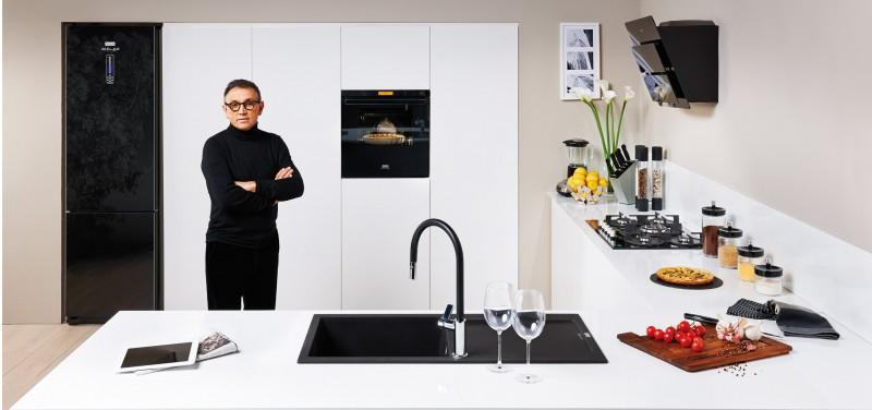 Franke presenta inox e crystal collezioni firmate da for Aziende design arredamento