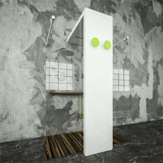 Termoarredo con doccia hi-tech Monolite Light di Brandoni
