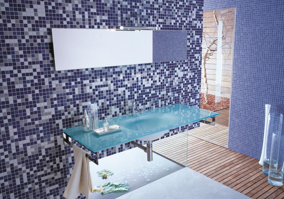 Bagni Blu Mosaico : Piastrelle bagno mosaico doccia doccia in ceramica piastrelle del