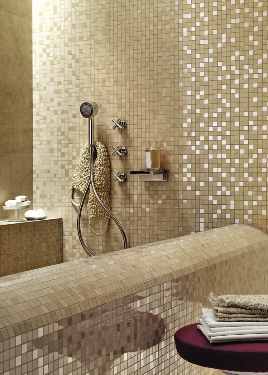 Bagno Piccolo Mosaico.Mosaico Per Arredare Bagno