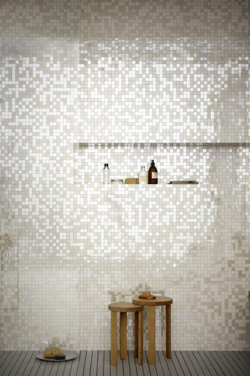 Bagno Con Mosaico Bianco mosaico per arredare bagno