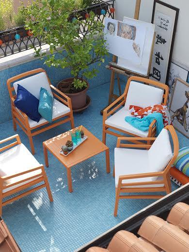 Complementi Nardi per terrazzi design frizzante e colorato