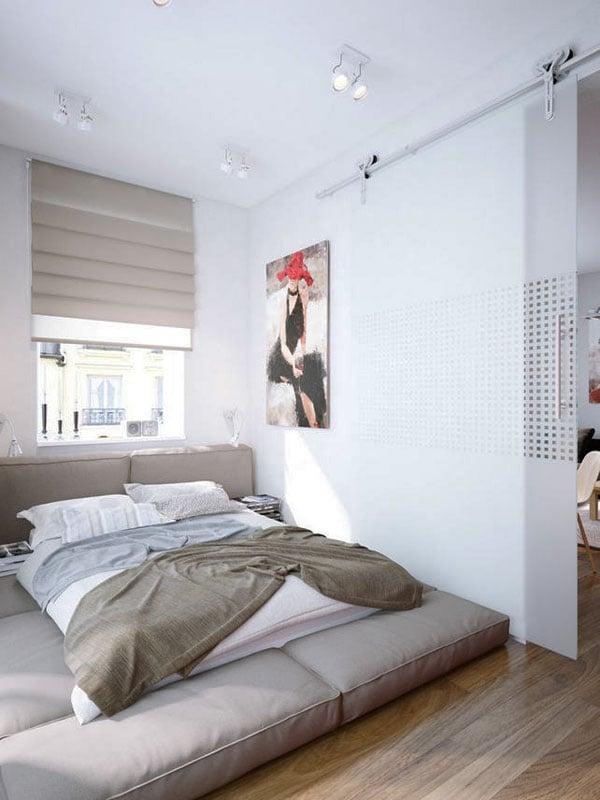Camera da letto lunga e stretta for Progettare una camera da letto