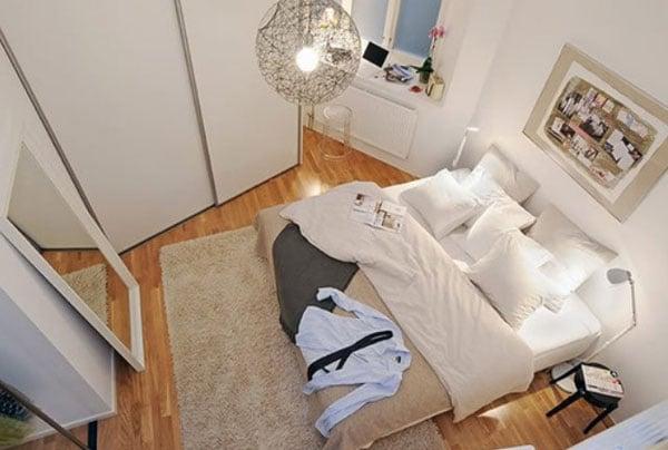 Camera da letto piccola arredo