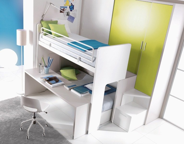 Letti salvaspazio per camerette for Arredamento salvaspazio mobili multifunzionali