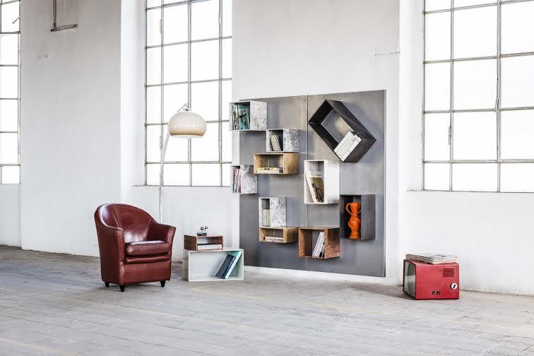 Libreria modulare in marmo logos di margraf for Libreria modulare