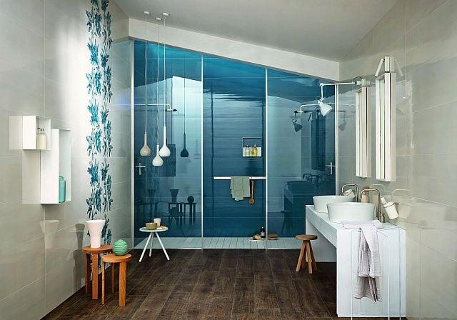 Bagno color turchese design casa creativa e mobili piastrelle