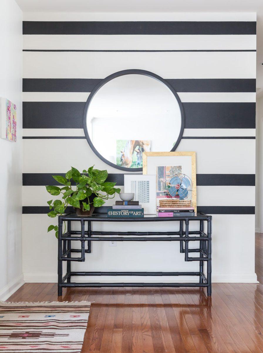 Arredare con le righe for Immagini di pareti colorate