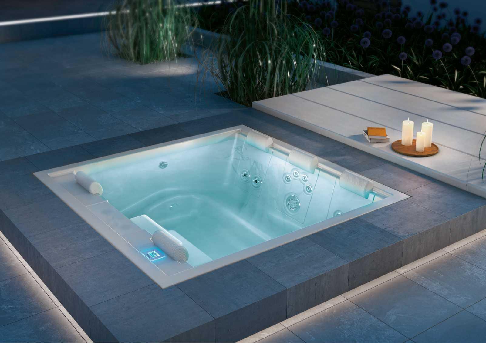 Vasca Da Terrazzo : Vasche idromassaggio da esterno