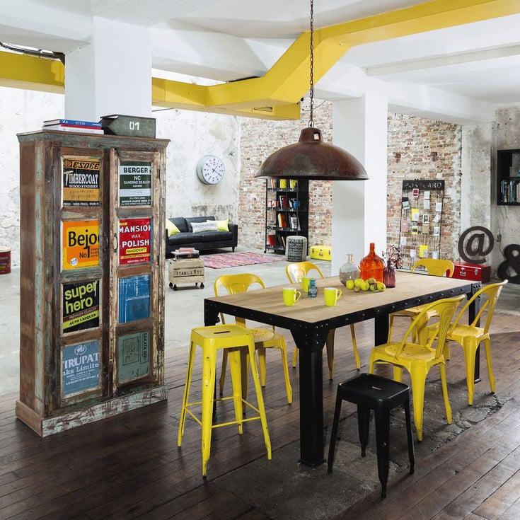 cucina-soggiorno-stile-industriale-maison-du-monde