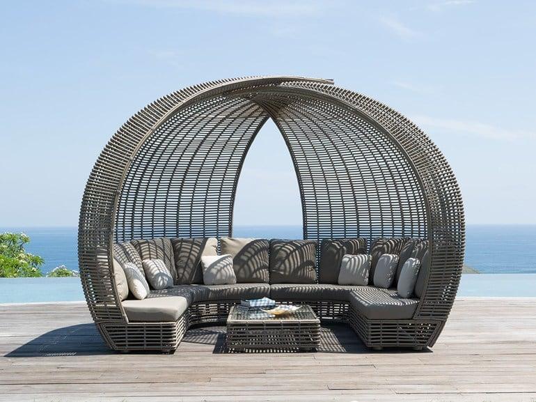 Cerchi divano per esterni in alluminio con cuscini h