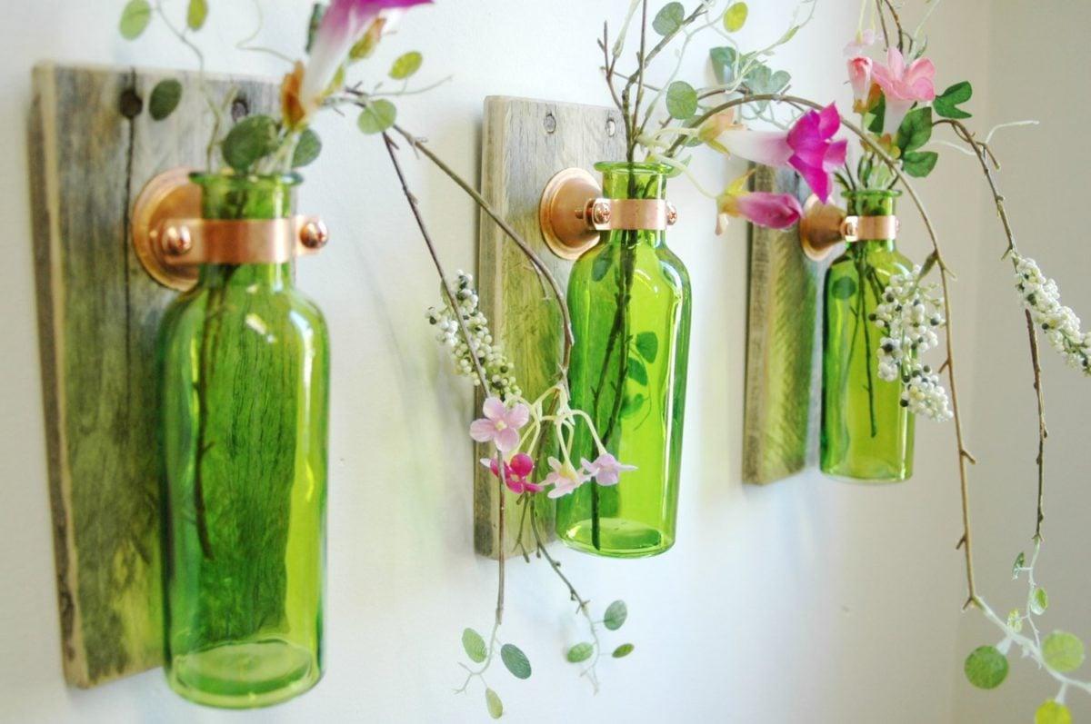 Lampadari Fatti Con Bottiglie Di Vetro.Come Riutilizzare Le Bottiglie